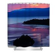 Emerald Bay Sunrise Portrait Shower Curtain