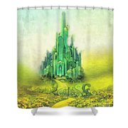 Emerald City Shower Curtain by Mo T