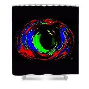 Emerald Eye Shower Curtain