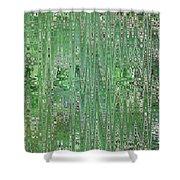Emerald Green - Abstract Art Shower Curtain