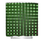 Emerald Green And Oak Stump Abstract Shower Curtain