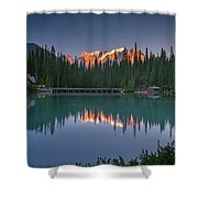 Emerald Lake At Sunrise Hour Shower Curtain