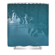 Emerald Lake Glacier Waters Shower Curtain