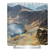 Emerald Lake Surrounded By Tatra Mountains, Poland Shower Curtain