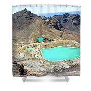 Emerald Lakes, New Zealand. Shower Curtain