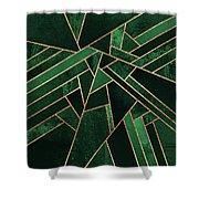Emerald Night Shower Curtain by Elisabeth Fredriksson