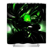 Emerald Nigthmares Abstract Shower Curtain