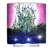 Emerald Palace Of Ancient Queen Of Space Aliens Shower Curtain