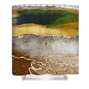 Emerald Pool - Yellowstone National Park Shower Curtain