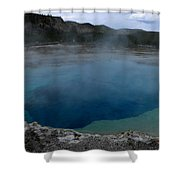 Emerald Pool - Yellowstone Np Shower Curtain