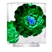 Emerald Rose Shower Curtain
