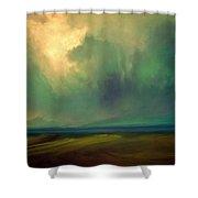 Emerald Sky Shower Curtain