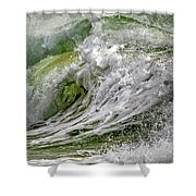 Emerald Storm Shower Curtain