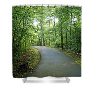 Emerald Trail Shower Curtain