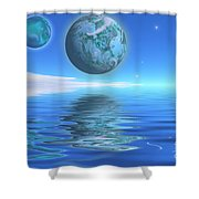 Emeraldo Shower Curtain
