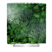 Emeralds Under Ice Shower Curtain