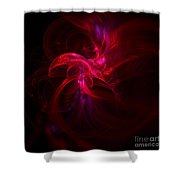Emerging Red Shower Curtain