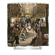 Emigrant Coach Car, 1886 Shower Curtain