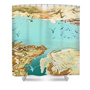 Emigration  Shower Curtain