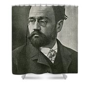 Emile Zola, French Author Shower Curtain by Photo Researchers