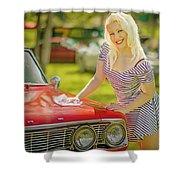 Emily #2 Royal Holden Shower Curtain