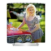Emily #3 Royal Holden Shower Curtain