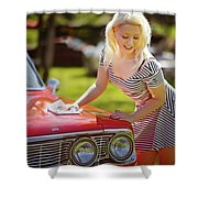 Emily #4 Royal Holden Shower Curtain