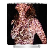 Emily Shower Curtain by Arla Patch