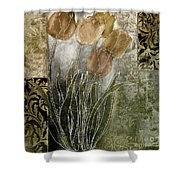 Emily Damask Tulips II Shower Curtain