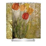 Emily Damask Tulips IIi Shower Curtain