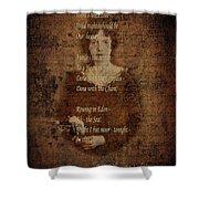 Emily Dickinson 4 Shower Curtain