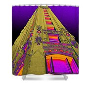 Emily Morgan Hotel With Cobalt Sky Shower Curtain