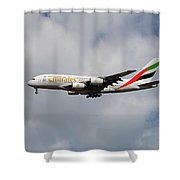 Emirates Airbus A380-861 5 Shower Curtain