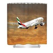 Emirates Boeing 777-36n 2 Shower Curtain
