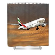 Emirates Boeing 777-36n 3 Shower Curtain