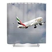 Emirates Boeing 777-36n 5 Shower Curtain
