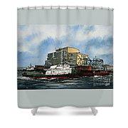 Emma Foss Barge Assist Shower Curtain