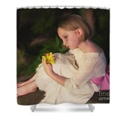 Emma Oil - Pink Bow Shower Curtain