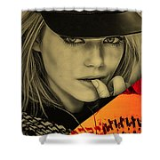 Emma Stone Collection Shower Curtain