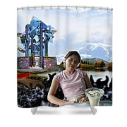 Emma's Afternoon Snack Shower Curtain