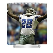 Emmitt Smith, Number 22, Running Back, Dallas Cowboys Shower Curtain