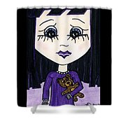 Emo Girl IIi Shower Curtain