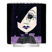 Emo Girl Iv Shower Curtain