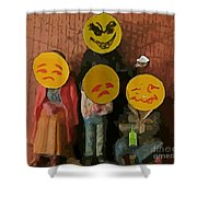 Emoji Family Victims Of Substance Abuse Shower Curtain