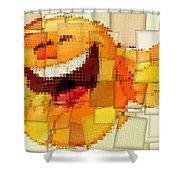 Emoticon Mosaic Cubism Shower Curtain