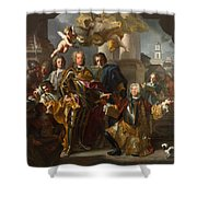 Emperor Charles Vi And Gundacker, Count Althann Shower Curtain