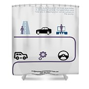 Empire Auto Transport Services Shower Curtain