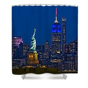 Empire State And Statue Of Liberty II Shower Curtain