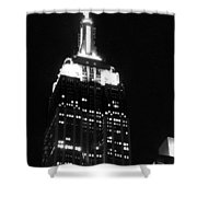 Empire State B W  Shower Curtain