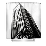 Empire State Building 1950s Bw Shower Curtain